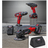 "Sealey CP20VCOMBO1 - 20V Cordless 13mm Hammer Drill/1/2""Sq Drive Impact Wrench/Ø115mm Angle Grinder Combo Kit"