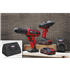"Sealey CP20VDDCOMBO - 20V Cordless 13mm Hammer Drill/1/2""Sq Drive Impact Wrench Combo Kit"