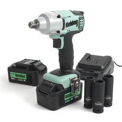 "Kielder KWT-002-08 - 1/2"" 18v 430Nm Impact Wrench with 2 x 4.0Ah Battery & 3 x Impact Sockets"
