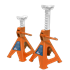 Sealey VS2002OR - Axle Stands (Pair) 2tonne Capacity per Stand Ratchet Type - Orange