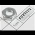 Sealey SN8.S - Replacement Bolt STEEL NUT M8 ZINC DIN934 (SINGLE)