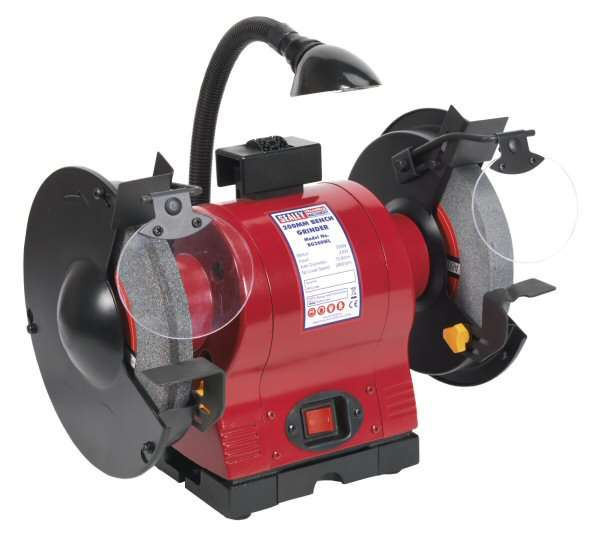 Sealey Bg200wl Bench Grinder 200mm With Work Light 550w