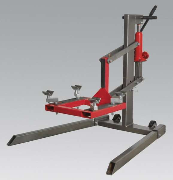 Single Post Motorcycle Lift 450kg Capacity