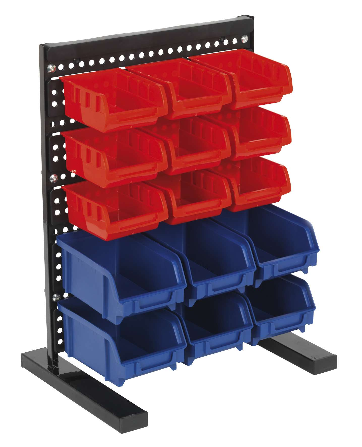 Sealey tps1569 bin storage system bench mounting 15 bin for Bench tool system