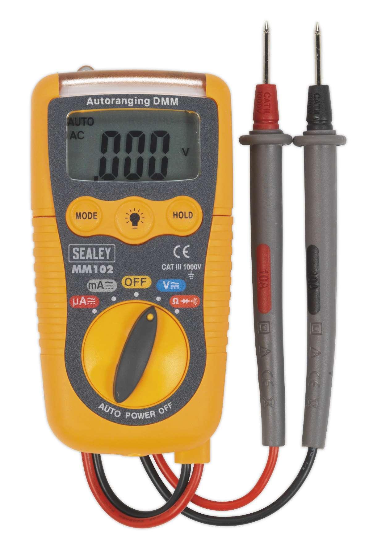 Alphatek TEK471 Measures Frequency And Temperature With Type K Temperature Probe 20 Amp Digital Backlit LCD 1000 Volt AC//DC High Performance Digital Multimeter