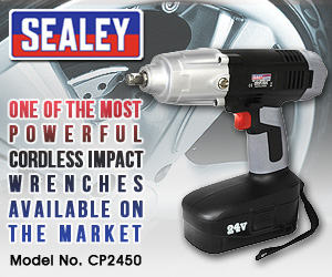 "Sealey CP2450 - Cordless Impact Wrench 24V 1/2""Sq Drive 410lb.ft"