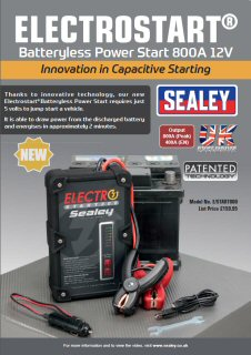 Sealey E/START800 - ElectroStart® Batteryless Power Start 800A 12V
